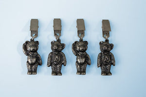 Teddy bear antique nickel tablecloth weights