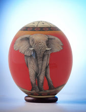 Load image into Gallery viewer, Elephant decoupage ostrich eggshell