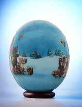 Load image into Gallery viewer, Father Christmas decoupage egg
