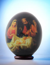 Load image into Gallery viewer, Christmas nativity scene decoupage egg