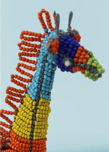 Load image into Gallery viewer, Multi-coloured African wire and bead giraffe