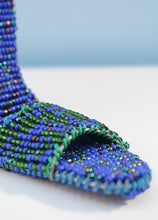 Load image into Gallery viewer, Dancing shoes in blue beads