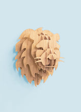 Load image into Gallery viewer, Lion Head in Bamboo wall mount