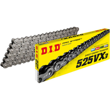 DID 525 VX3 Chain 110 Link - air cooled stock length