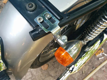 Motone Customs Rear Under Seat Signal Brackets