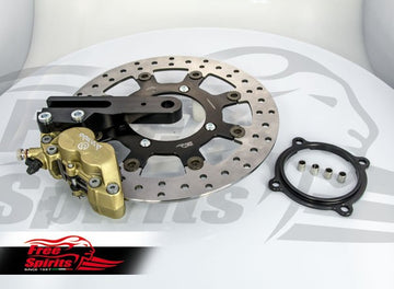 Brake Kit Rear with 4 Pot Brake Caliper for Triumph Classic