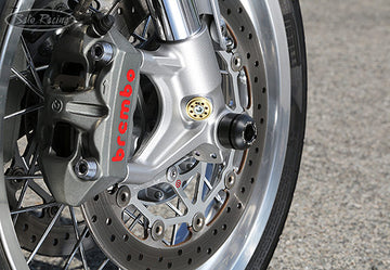 Sato Racing Front Axle Sliders - Thruxton 1200/R/Speed Twin