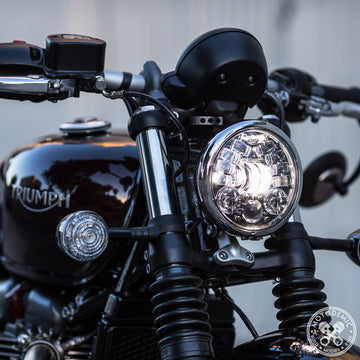 Motodemic LED Headlight -Bobber/Bobber Black