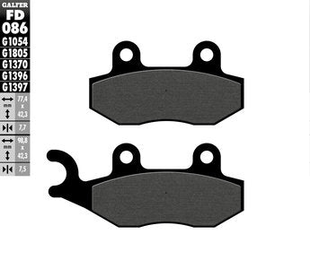 Rear Brake Pads 1054 Compound - Liquid Cooled