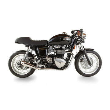 British Customs Predator Pro Shorty Slip On Exhaust - Thruxton (Air Cooled 2004-2015)