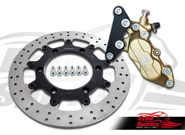 Brake caliper 4 pot front bracket for Triumph Bonneville & Scrambler - KIT
