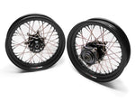 TT BOBBER 16 X 3.0 FRONT AND REAR, DENIM BLACK STEEL DIMPLED RIMS, STAINLESS SPO