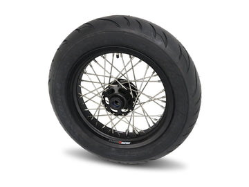 Bobber Black 40 Spoke Alloy Wheel Kit Stage 2