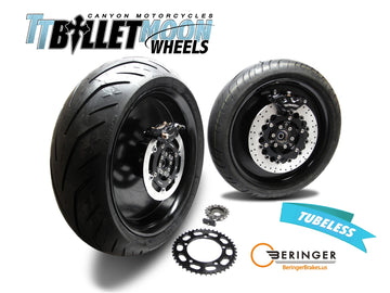 Bonneville SE Billet Moon Wheel Kit Stage 2