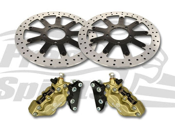 Thruxton 1200 Std, Speedmaster & Bobber Black Brake Calipers & 340mm Rotors