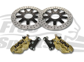 Thruxton 1200 Std. Speedmaster & Bobber Black Brake Calipers & 310mm Rotors