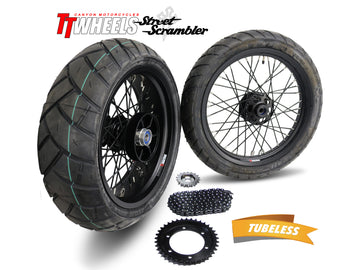 Street Scrambler 40 Spoke Alloy Wheel Kit Stage 2