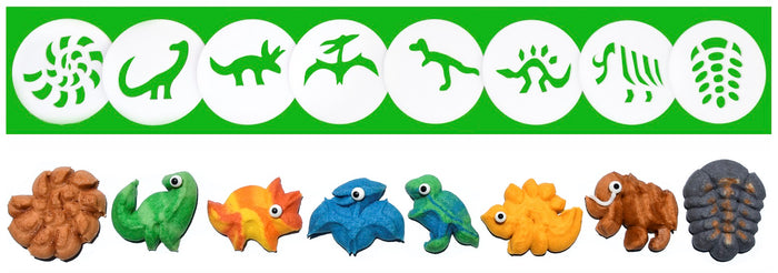 Dinosaurs & Fossils 8 Disk Set for Cookie Presses