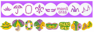 Mardi Gras 8 Disk Set For Cookie Presses