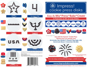 Patriotic/4th of July 8 Disk Set for Cookie Presses