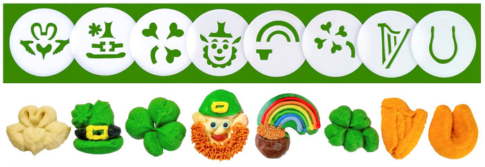 St. Patrick's Day 8 Disk Set for Cookie Presses