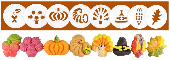 Thanksgiving 8 Disk Set for Cookie Presses