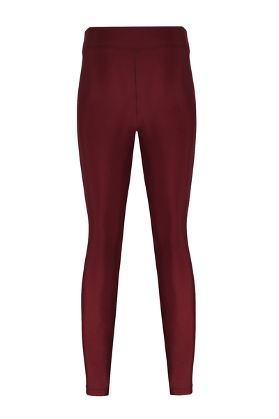 Stella High Waist Shiny Leggings - Montmartre Vineyard