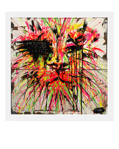Flaitz Whatever - Wild Lion Original Artwork
