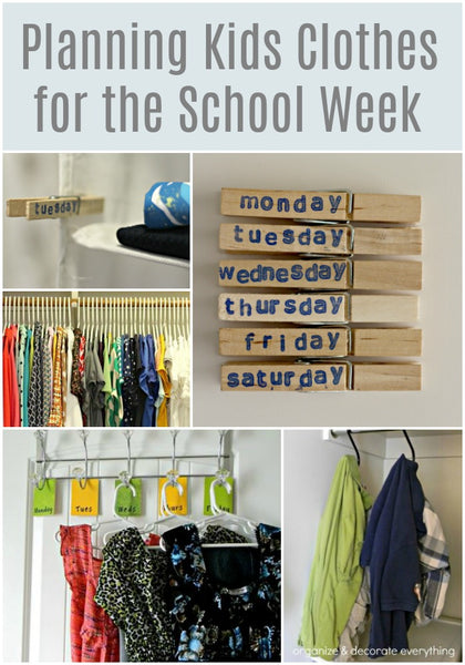 Smart Ideas on Planning Kids Clothes for the School Week