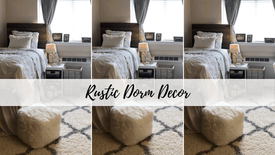 This post is all about rustic dorm decor.