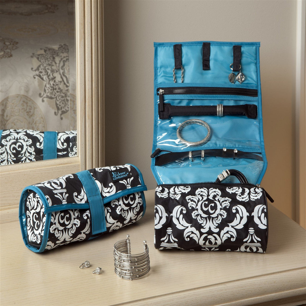 On A Roll - Damask with Teal