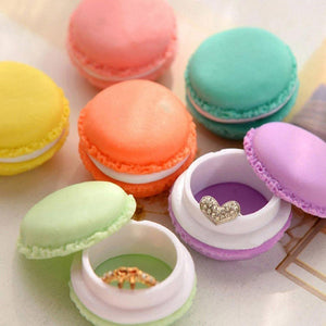 2PCS Colorful Mini Macarons Shaped Storage Box Candy Color Jewelry Organizer