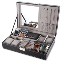 Load image into Gallery viewer, Multifunctional 8 Watch Box Jewelry Organizer