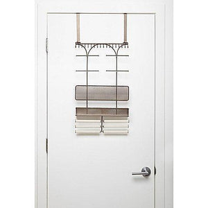 Amazon umbra isabella elegant beautiful bronze finish display over the door jewelry organizer holds over 250 pieces unique patented product features necklace hooks with linen bracelet bar and earring bar