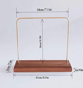 Amazon best svea display jewelry display stands for shows natural walnut wood polished brass modern design classic style handmade trade show store gallery exhibition home art necklace bracelet watch organizer