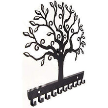 Load image into Gallery viewer, Shop for angelynns jewelry organizer hanging earring holder wall mount necklace display rack storage branch rack tree of life black