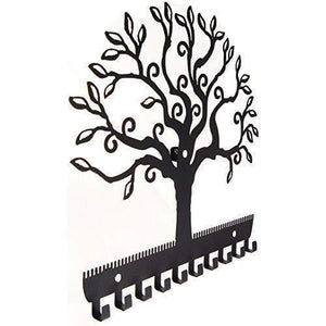 Shop for angelynns jewelry organizer hanging earring holder wall mount necklace display rack storage branch rack tree of life black