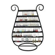 Load image into Gallery viewer, Adorox Earring Holder Jewelry Organizer Necklace Hanger Wall Stand Rack Black Classic Display