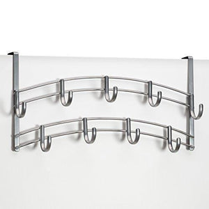 New airleds over door accessory holder scarf belt hat jewelry hanger 9 hook organizer rack platinum 1