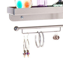 Load image into Gallery viewer, Best seller  angelynns bracelet display wall mount jewelry organizer earring holder necklace rack closet storage shelf carol satin nickel silver