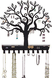 Save on angelynns jewelry organizer hanging earring holder wall mount necklace display rack storage branch rack tree of life black