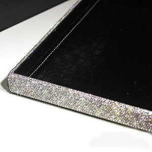 Kitchen bestblingbling classic bling rhinestone jewelry or makeup storage box organizer display storage case with lock for desk or table silver