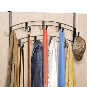 Exclusive lynk over door accessory holder scarf belt hat jewelry hanger 9 hook organizer rack bronze