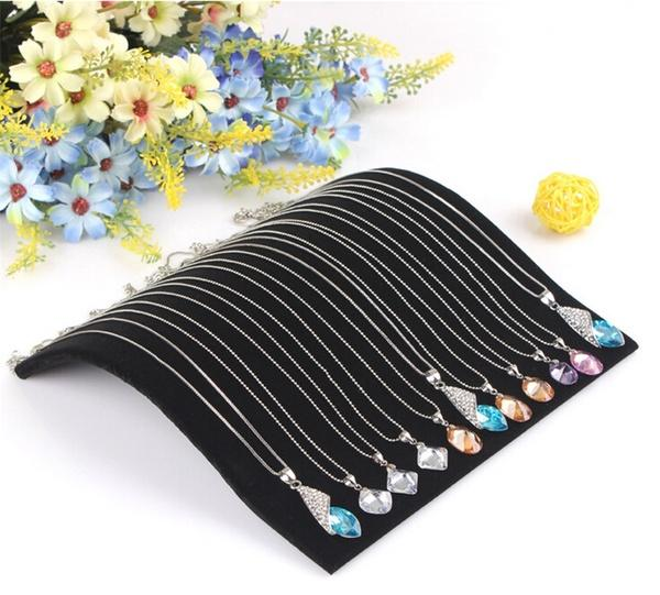 Velvet Necklace Chain Pendant Display Jewelry Organizer Stand Holder