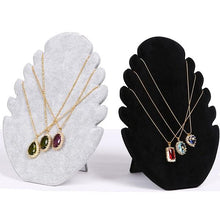 Load image into Gallery viewer, Suede Flame Board Necklace Display Stand Women Jewelry Storage Rack