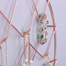 Load image into Gallery viewer, Top jewelry organizer nugoo pineapple shape hanging jewelry display holder wall mount jewelry rack for earrings necklaces and bracelets rose gold