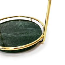 Load image into Gallery viewer, Save on bonmarb storage green marble table mirror vanity mirror with 1x2x magnfication mirror with jewelry storage mirror with cosmetic storage mirror with hair accessories storage coin tray with mirror