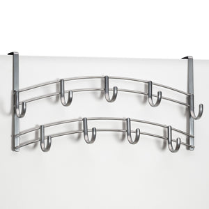 Buy lynk over door accessory holder scarf belt hat jewelry hanger 9 hook organizer rack platinum 1