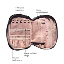 Load image into Gallery viewer, Storage organizer giftiess travel jewelry organizer case small storage bag for necklace ring watch earrings bracelet women accessories holder bags designs for traveling gift mini luggages backpacks