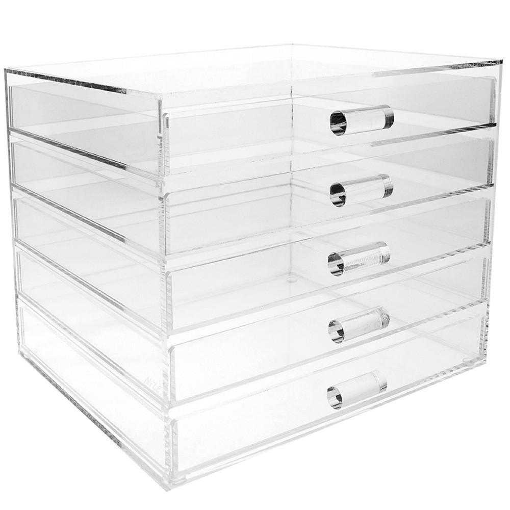 #COM5780C Premium Acrylic 5 Drawer Makeup & Jewelry Organizer
